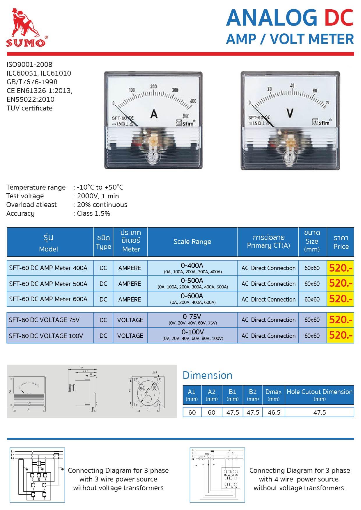 (23/25) Analog DC Amp Volt Meter