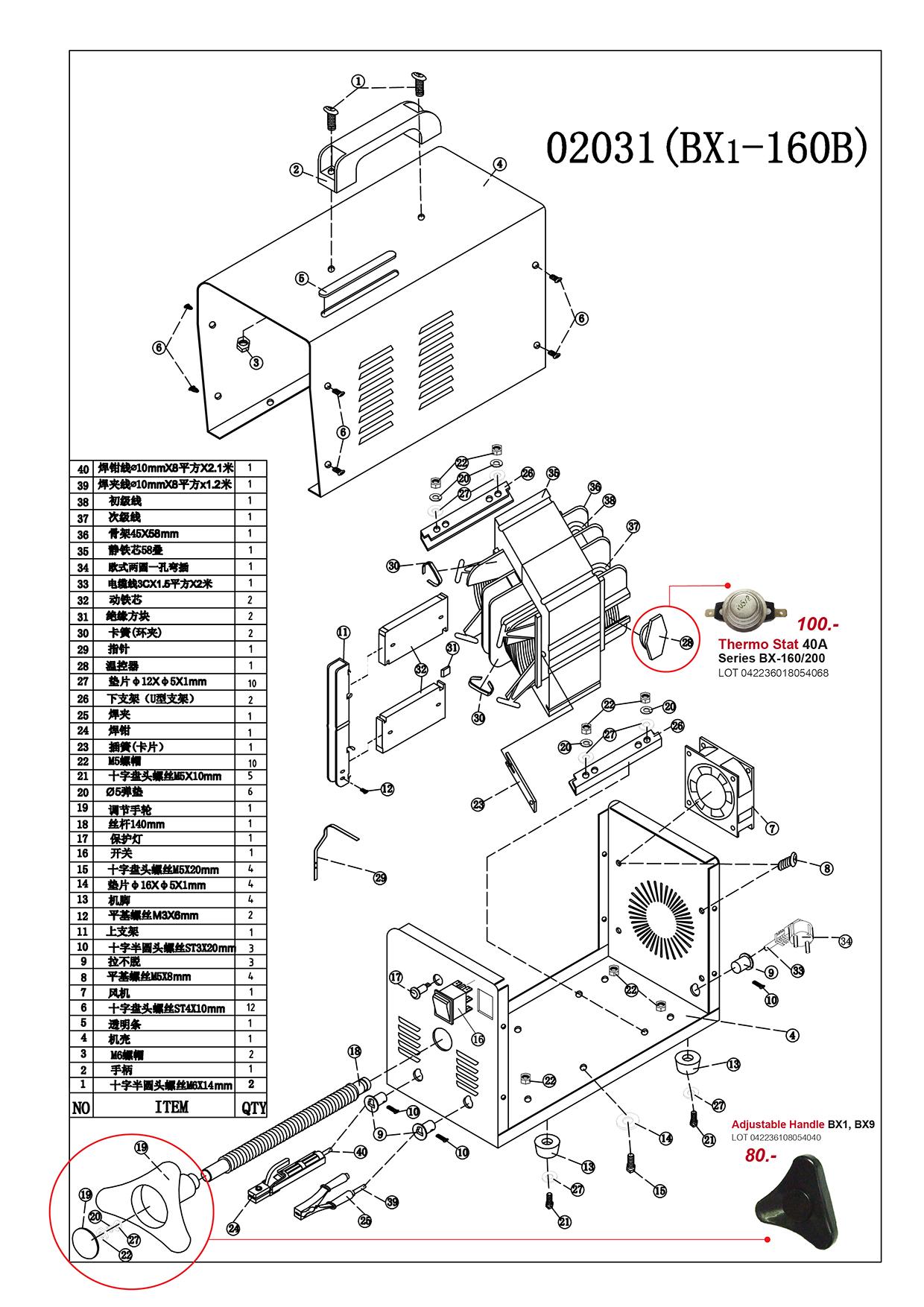 เครื่องเชื่อมไฟฟ้า - Welding Machine BX6 Series
