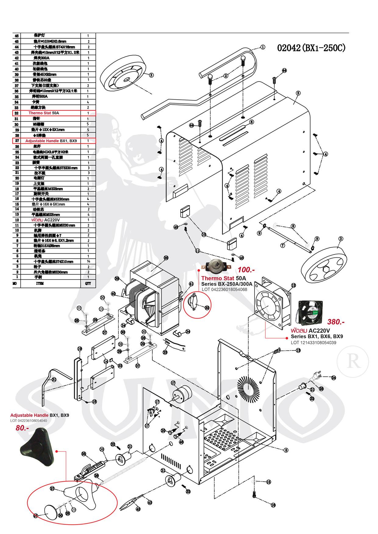 เครื่องเชื่อมไฟฟ้า - Welding Machine BX6-300 Series