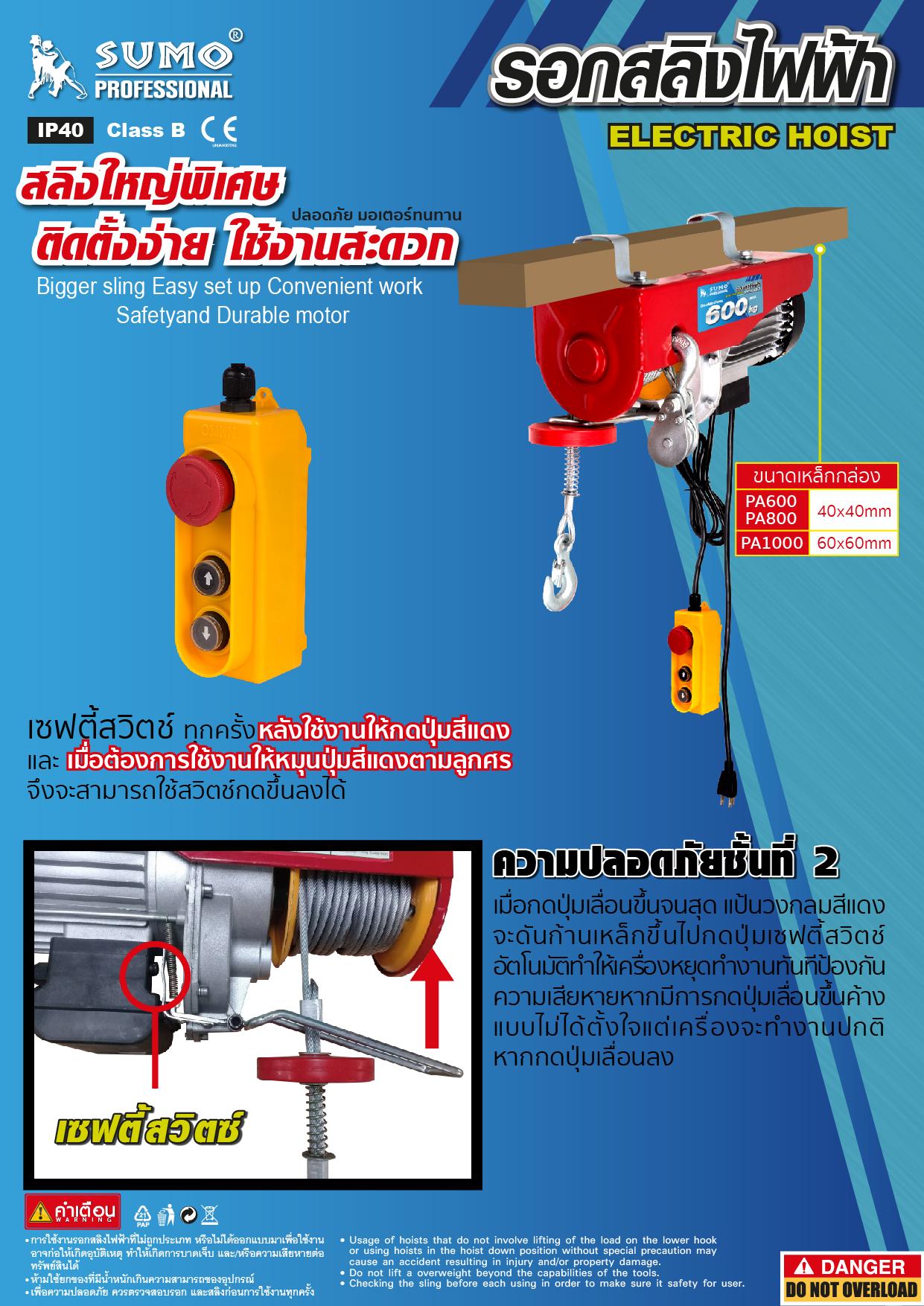 (6/7) รอกไฟฟ้า - Electric Hoist