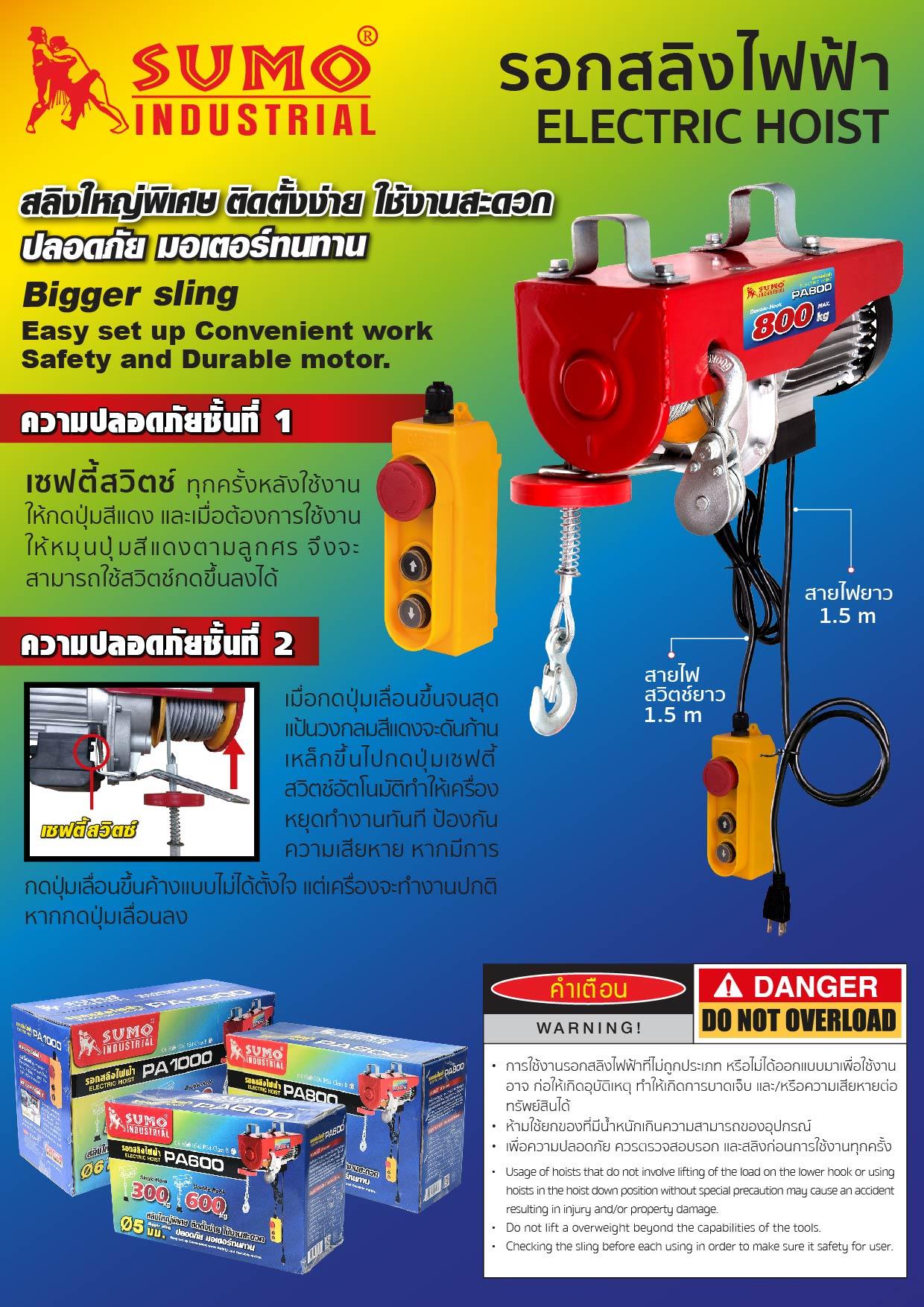 (1/10) รอกไฟฟ้า - Electric Hoist