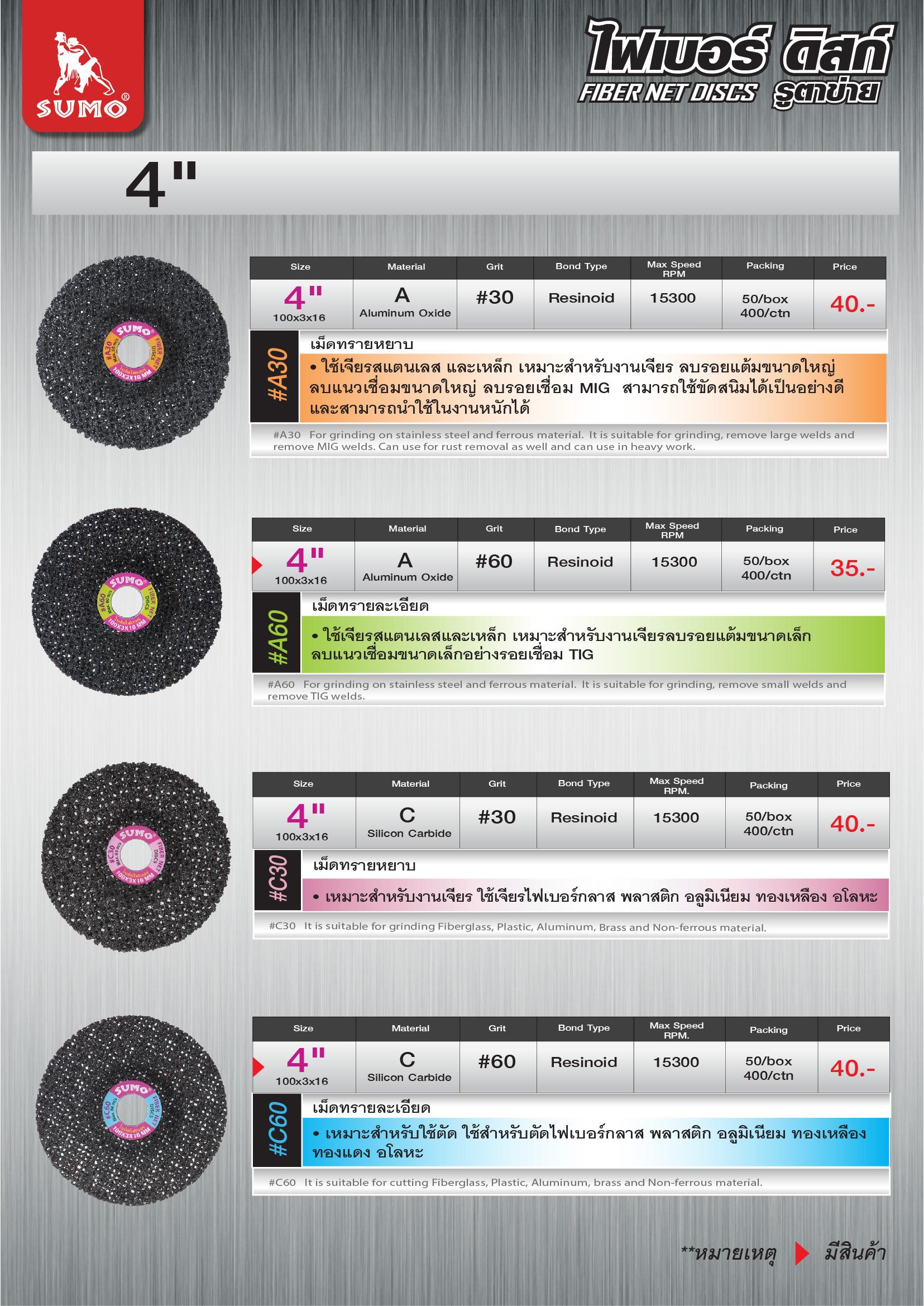(2/164) ไฟเบอร์ ดิสก์ - Fiber Net Discs