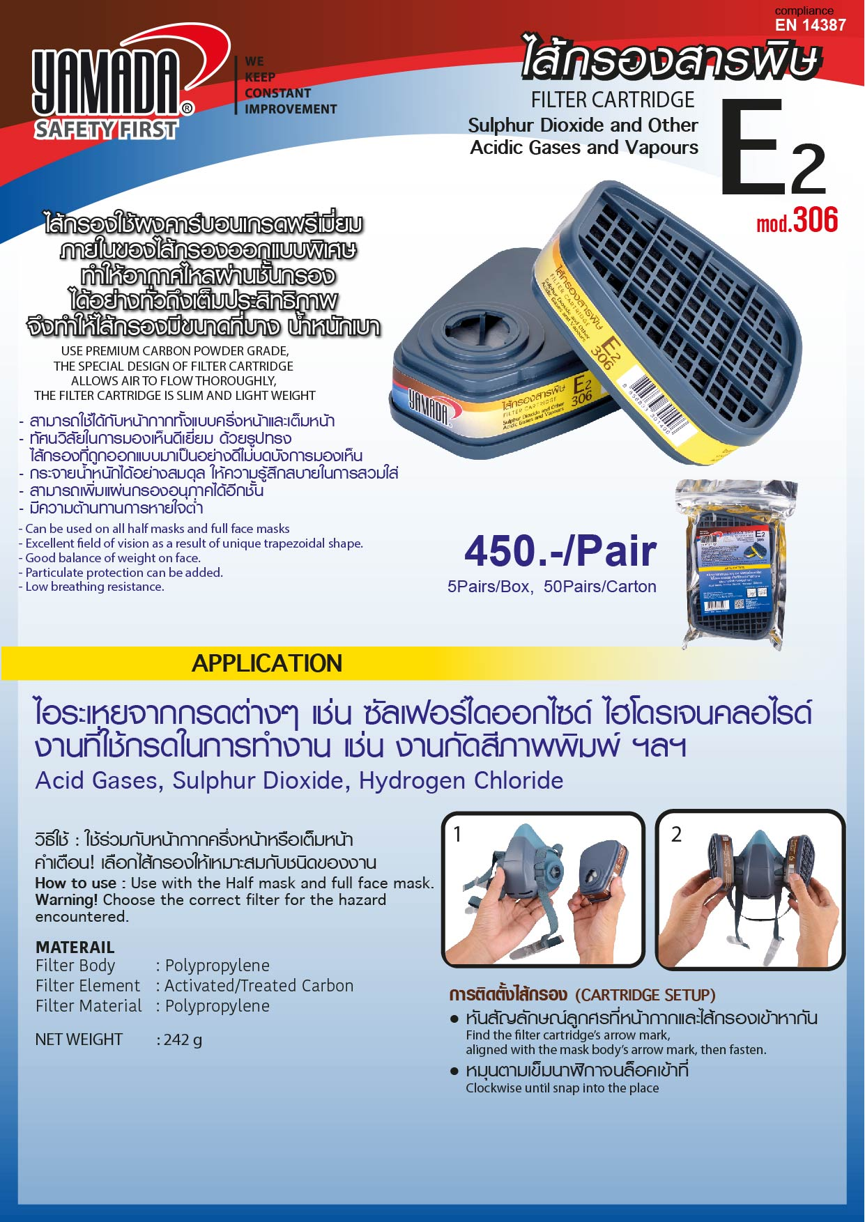 (15/18) filter ไส้กรองสารพิษ K2 309