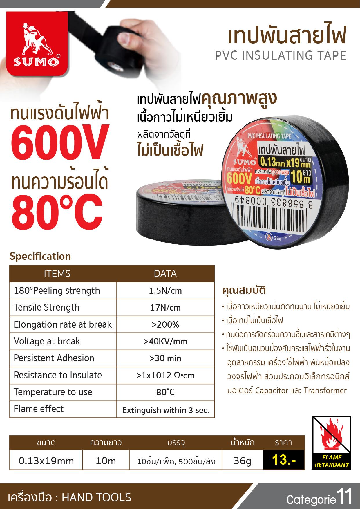 (2/3) เทปพันสายไฟ - PVC InsulatingTape