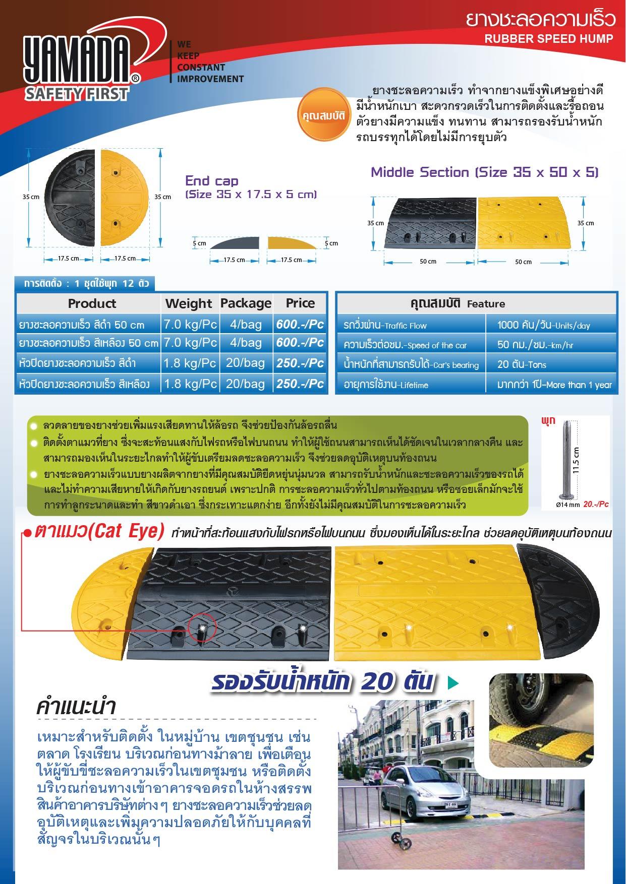 (2/8) ยางชะลอความเร็ว - Rubber Speed Bump