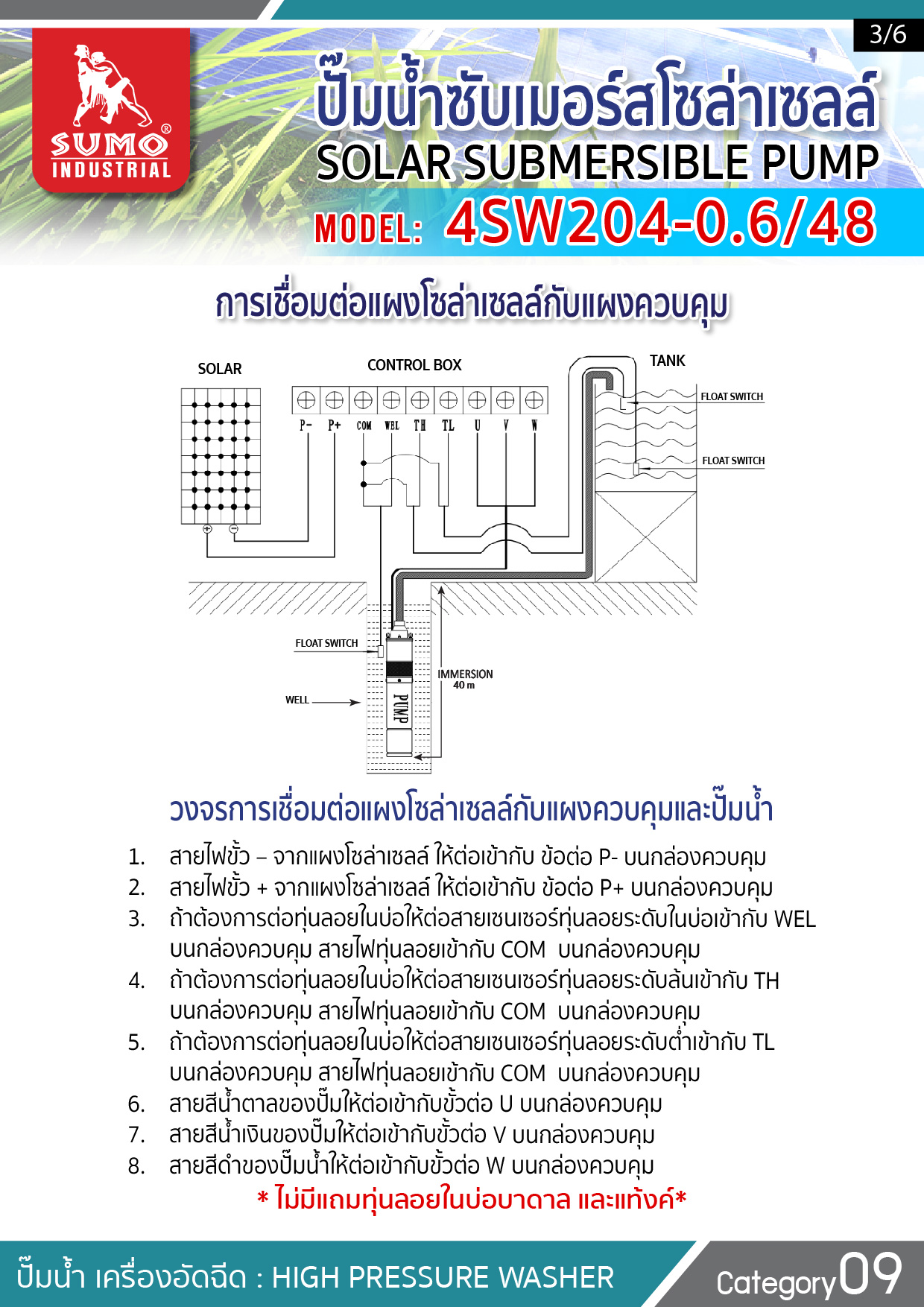 (3/7) ปั๊มน้ำซับเมอร์สโซล่าร์เซลล์