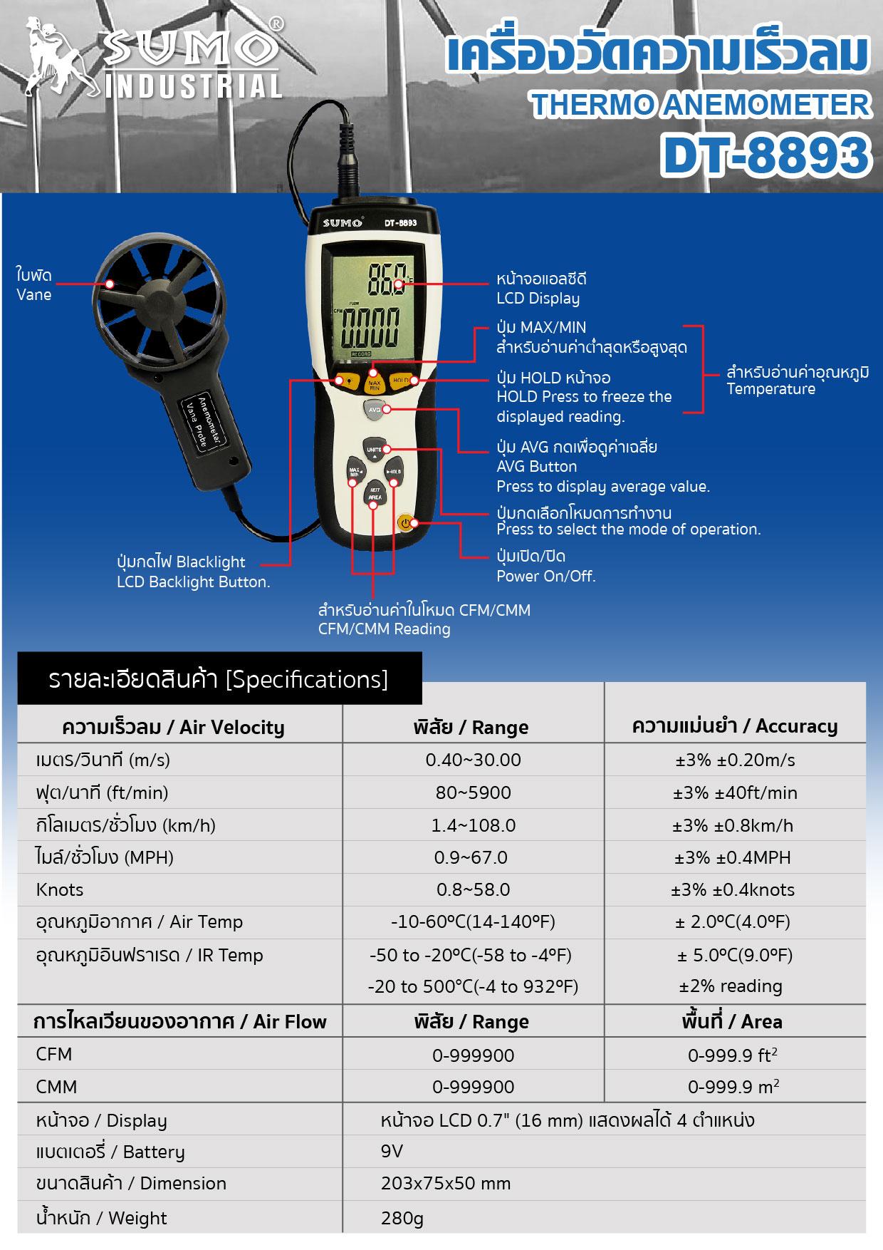 (127/188) เครื่องวัดเสียง DT-815