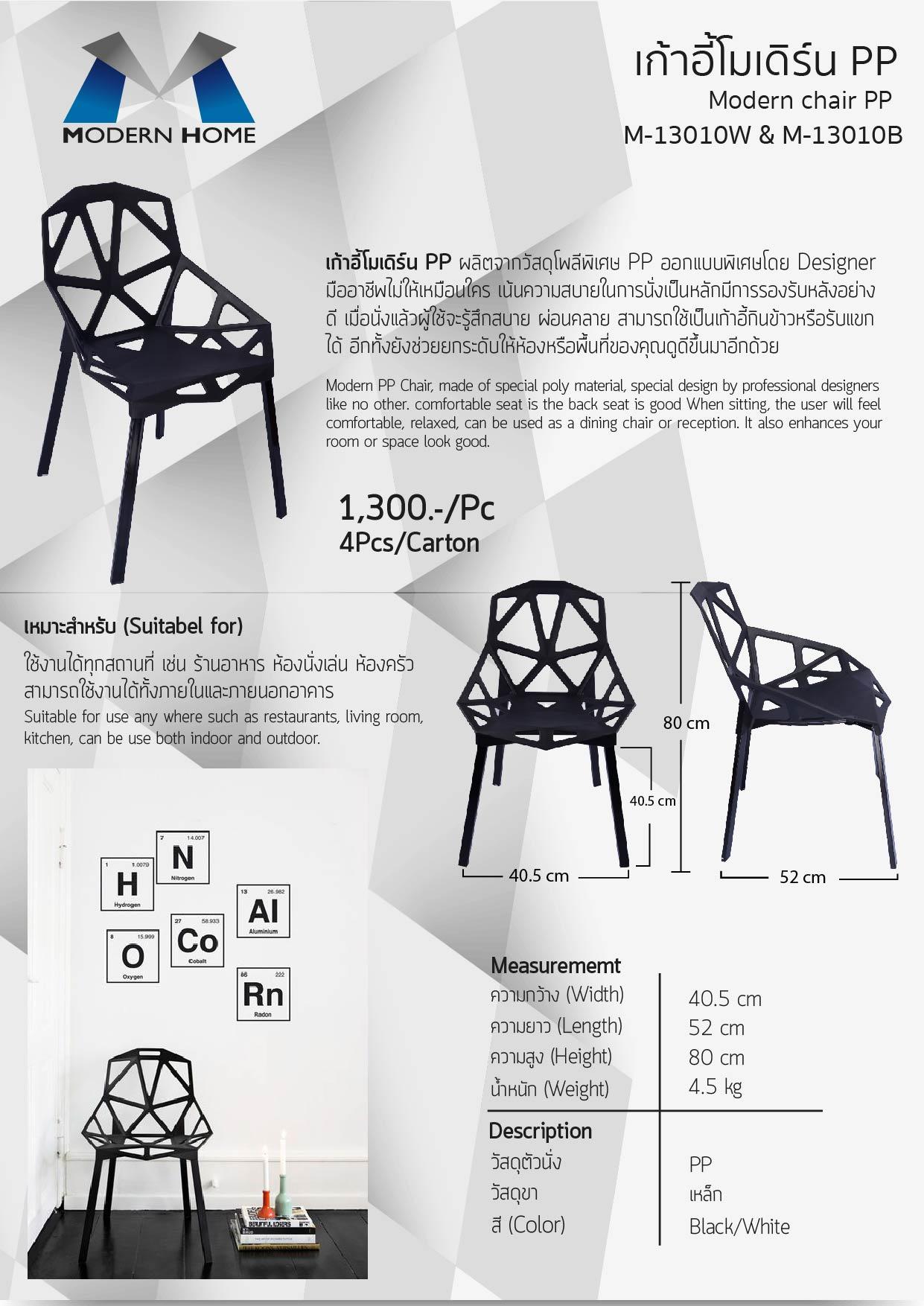 (2/7) เก้าอี้โมเดิร์ pp