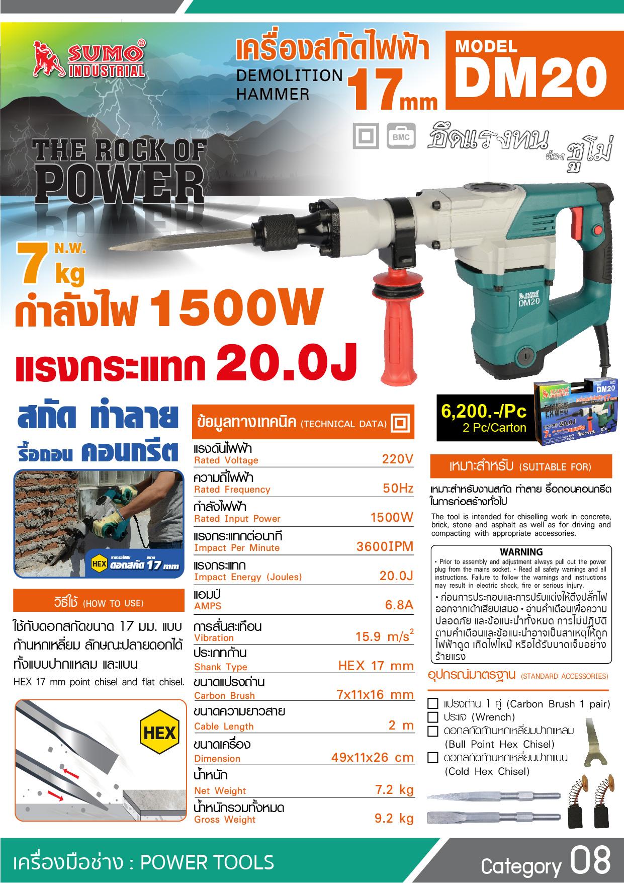 (8/22) เครื่องสกัดไฟฟ้า DM20