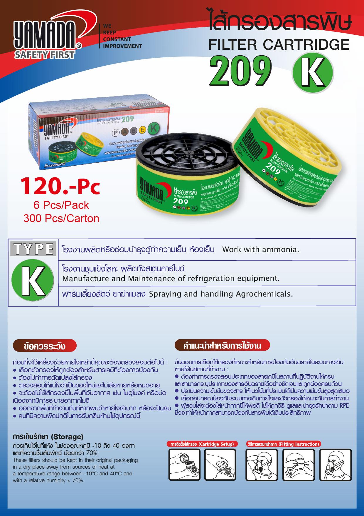 (82/278) ไส้กรองสารพิษ 209 TYPE K / Filter Cartridge
